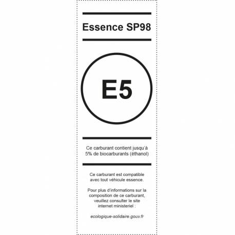 Pictogramme Appareil distribuetur Essence sp98