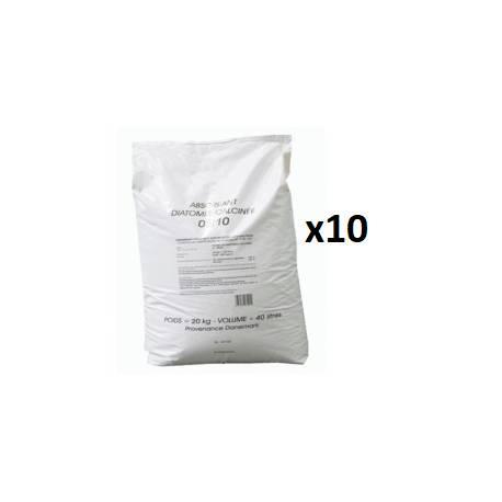 Absorbant station service : 10 sacs de 20 kg de terre de diatomée