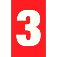 "Pictogramme ""Chiffre 3"" ROUGE"