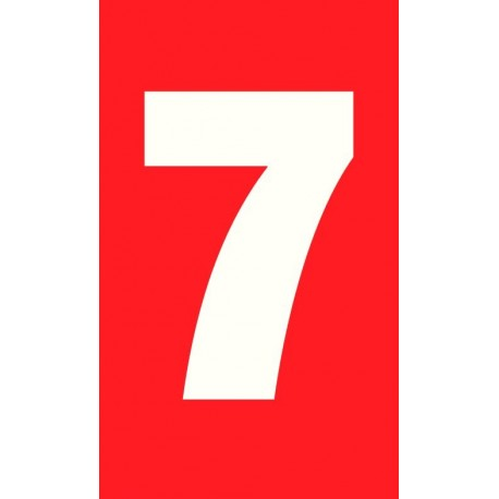 "Pictogramme ""Chiffre 7"" ROUGE"