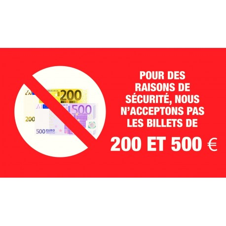 billet de 500 euros interdit