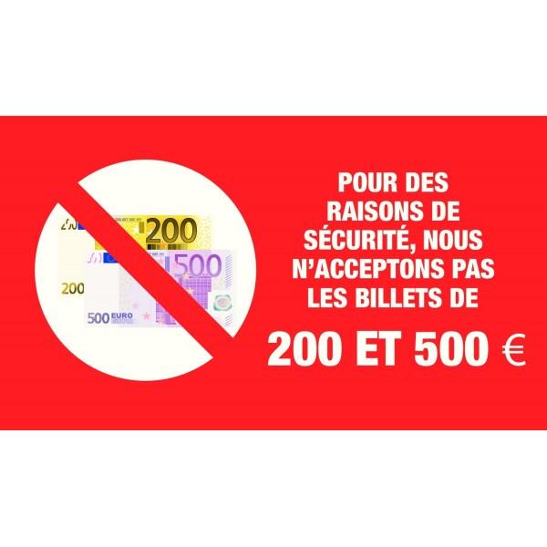 adh sif les billets de 200 et 500 euros ne sont pas accept s quipement pour station service. Black Bedroom Furniture Sets. Home Design Ideas