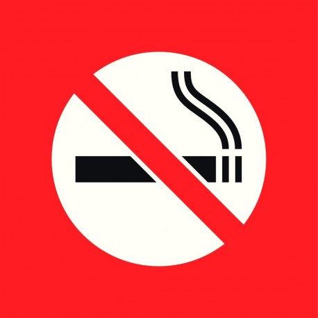 Pictogramme station service, interdit de fumer