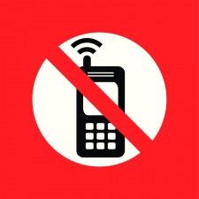 Pictogramme station service, interdit de téléphoner