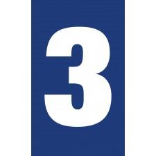 """Pictogramme """"Chiffre 3"""" BLEU"""