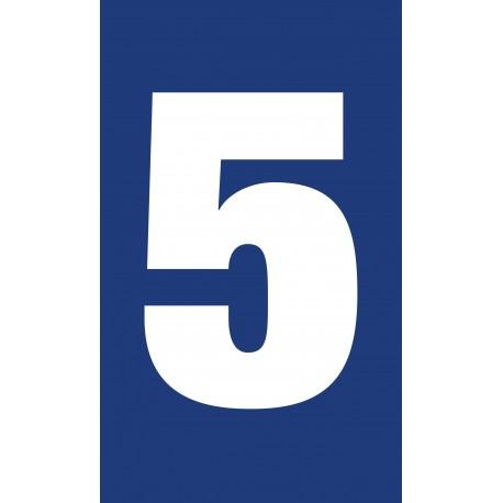 """Pictogramme """"Chiffre 5"""" BLEU"""