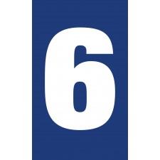 """Pictogramme """"Chiffre 6 / 9"""" BLEU"""