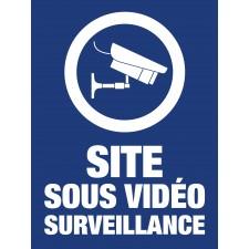 """Pictogramme """"Site sous vidéo surveillance"""" BLEU"""