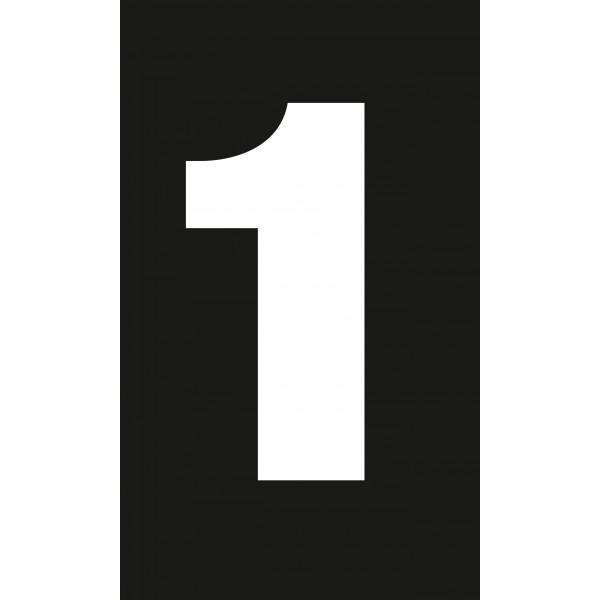 """Célèbre Adhésif / Pictogramme """"Chiffre 1"""" NOIR HI01"""