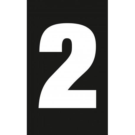 """Pictogramme """"Chiffre 2"""" NOIR"""