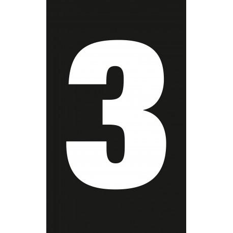 """Pictogramme """"Chiffre 3"""" NOIR"""