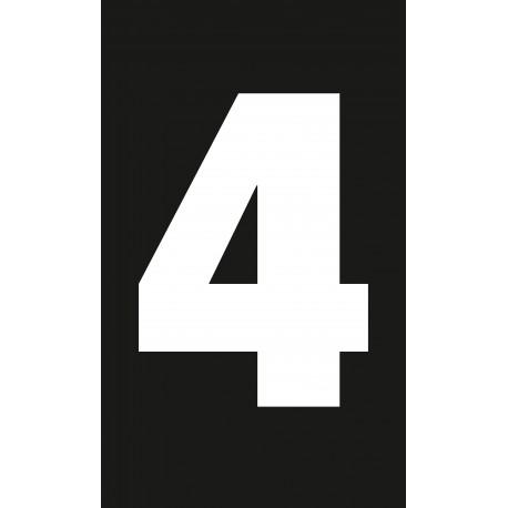 """Pictogramme """"Chiffre 4"""" NOIR"""