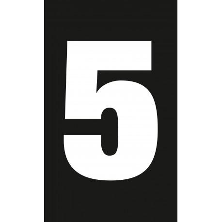 adhésif chiffre 5, équipement station service