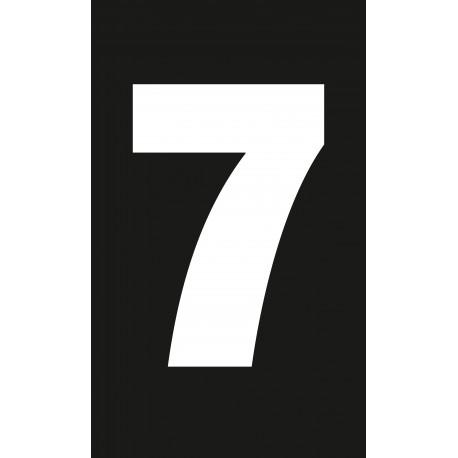 """Pictogramme """"Chiffre 7"""" NOIR"""