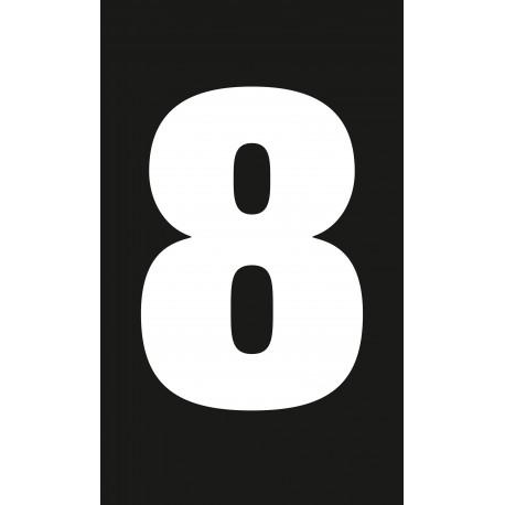 """Pictogramme """"Chiffre 8"""" NOIR"""