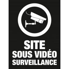 """Pictogramme """"Site sous vidéo surveillance"""" NOIR"""