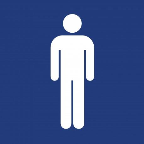 "Pictogramme ""Toilettes Hommes"" BLEU"