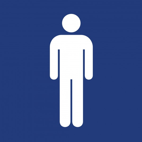 adh sif pictogramme toilettes hommes bleu. Black Bedroom Furniture Sets. Home Design Ideas