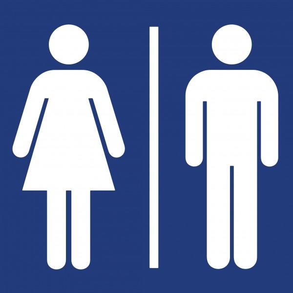 adh sif pictogramme toilettes hommes femmes bleu. Black Bedroom Furniture Sets. Home Design Ideas