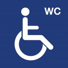 """Pictogramme """"Toilettes Personnes Handicapées"""" BLEU"""