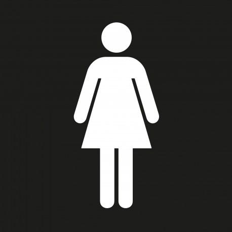 """Pictogramme """"Toilettes Femmes"""" NOIR"""