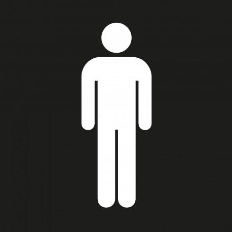 """Pictogramme """"Toilettes Hommes"""" NOIR"""