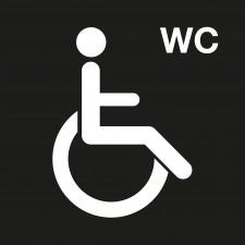 """Pictogramme """"Toilettes Personnes Handicapées"""" NOIR"""