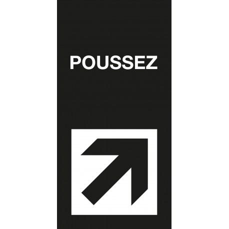 """Pictogramme """"Poussez"""" Format vertical NOIR"""