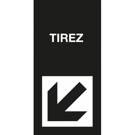 "Pictogramme ""Tirez"" Format vertical NOIR"