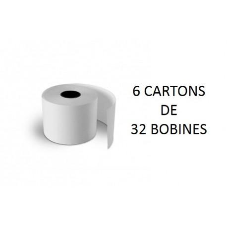 Rouleaux thermiques - 6 cartons de 32 rouleaux