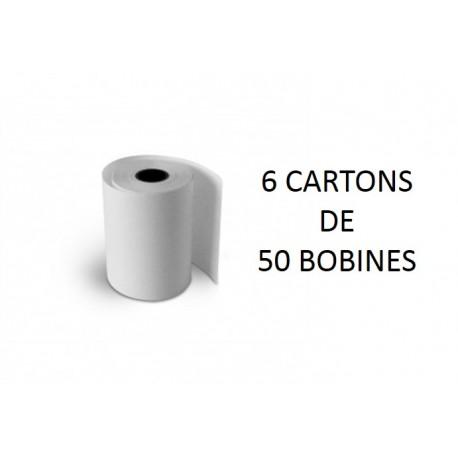 57x40x12 - 6 Cartons de 50 Rouleaux de caisse thermique - sans Bisphénol A