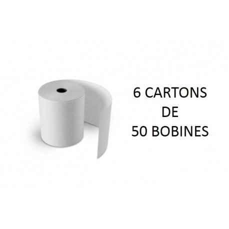 70x70x12 - 6 Cartons de 50 Rouleaux de caisse électrique