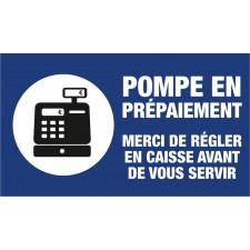 """Adhésif / Pictogramme """"Pompe en prépaiement"""" BLEU"""