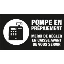 """Adhésif / Pictogramme """"Pompe en prépaiement"""" NOIR"""