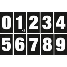 Kit de numérotation des pompes - 1 à 10 - Noir