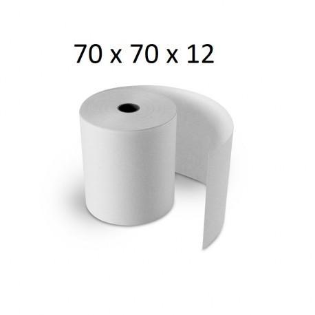 70x70x12 - Carton 50 Rouleaux de caisse électrique