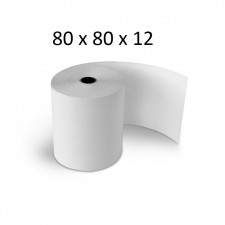 80x80x12 - Carton 50 Rouleaux de caisse thermique - sans Bisphénol A
