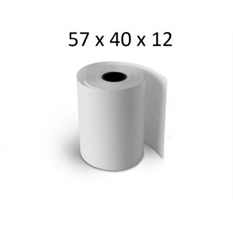 57x40x12 - Carton 50 Rouleaux de caisse thermique - sans Bisphénol A