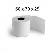 60x70x25 - Carton 50 Rouleaux de caisse thermique - sans Bisphénol A