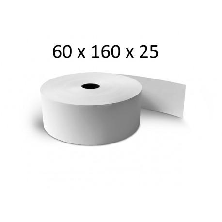 60x160x25 - Carton 10 Rouleaux de caisse thermique - sans Bisphénol A