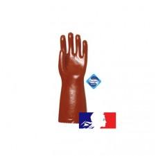 Paire de gants PVC pour hydrocarbures - 40 cm