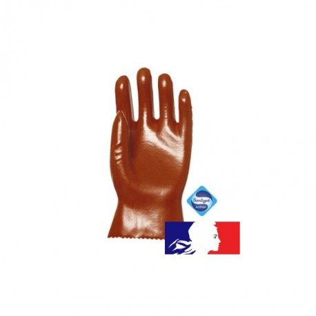 Paire de gants PVC pour hydrocarbures - 27 cm