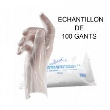 Echantillon - 1 Sachet de 100 gants PE transparents - Taille standard