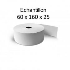 60x160x25 - Echantillon de 1 Rouleau de caisse thermique - sans Bisphénol A