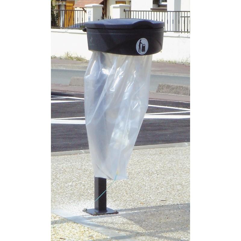 poubelle porte sac robuste avec fixation sur poteau. Black Bedroom Furniture Sets. Home Design Ideas