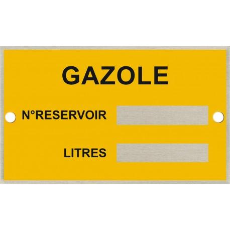 Plaque identification cuve - Gazole