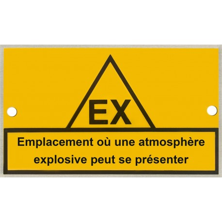 Plaque identification zone ATEX