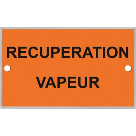 Plaque identification pour récupération des vapeurs