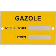 Plaque d'identification pour cuve - GO + rivets de fixation