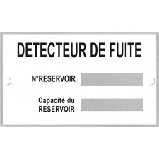 Plaque d'identification pour zone ATEX (EX) + rivets de fixation